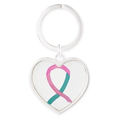 Breast & Ovarian Cancer Awareness Ribbon Keychains