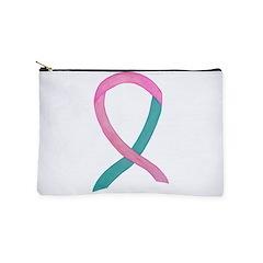 Breast & Ovarian Cancer Awareness Ribbon Makeup Ba