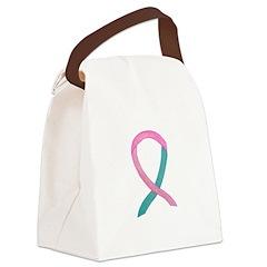 Breast & Ovarian Cancer Awareness Ribbon Canvas Lu