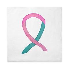 Breast & Ovarian Cancer Awareness Ribbon Queen Duv