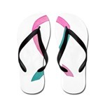 Breast & Ovarian Cancer Awareness Ribbon Flip Flop
