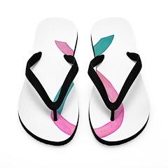 Breast & Ovarian Cancer Awareness Ribbon Flip Flop
