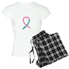 Breast & Ovarian Cancer Awareness Ribbon Pajamas