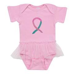 Breast & Ovarian Cancer Awareness Ribbon Baby Tutu