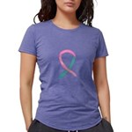 Breast & Ovarian Cancer Awareness Ribbon T-Shirt