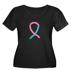 Breast & Ovarian Cancer Awareness Ribbon Plus Size
