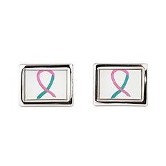 Breast & Ovarian Cancer Awareness Ribbon Rectangul