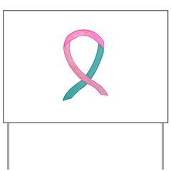 Breast & Ovarian Cancer Awareness Ribbon Yard Sign