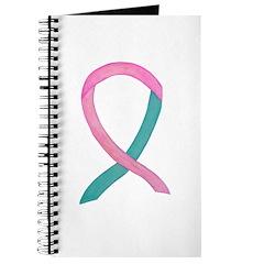 Breast & Ovarian Cancer Awareness Ribbon Journal