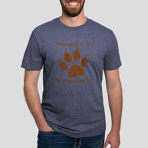 PERSONALIZED Dog Paw Print T-Shirt