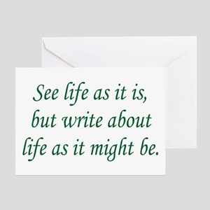 Write About Life Greeting Card