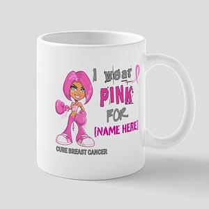 Personalized Breast Cancer Custom Large Mugs