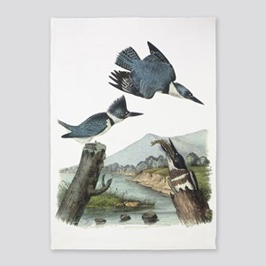 Belted Kingfisher 5'x7'area Rug