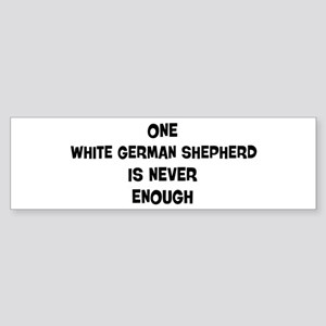 One White German Shepherd Bumper Sticker
