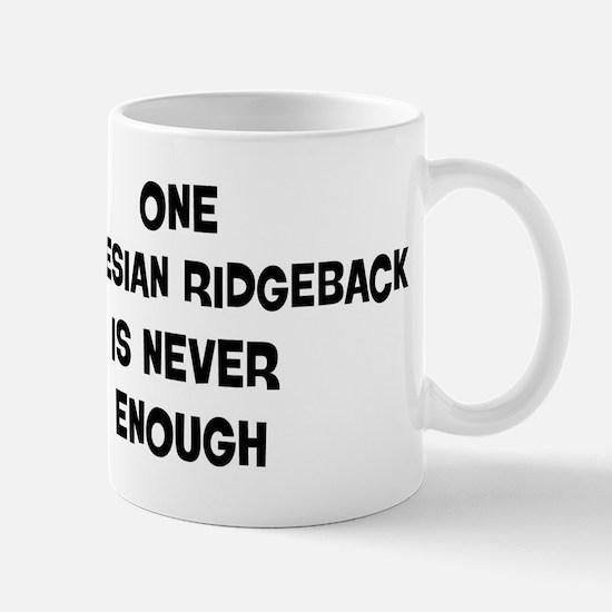 One Rhodesian Ridgeback Mug