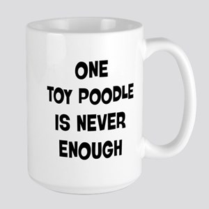 One Toy Poodle Large Mug