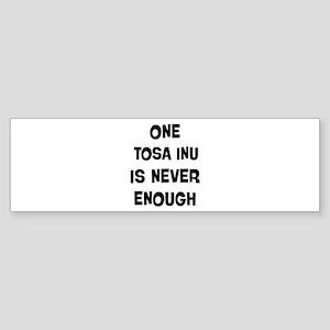 One Tosa Inu Bumper Sticker