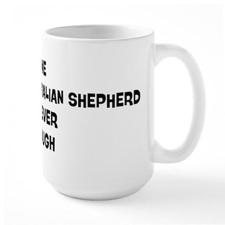One Miniature Australian Shep Large Mug