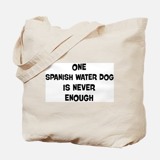 One Spanish Water Dog Tote Bag