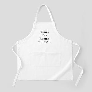 Times New Roman Boring BBQ Apron