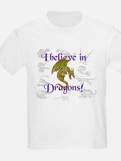 I Believe in Dinosaurs Kids T-Shirt