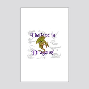I Believe in Dinosaurs Mini Poster Print