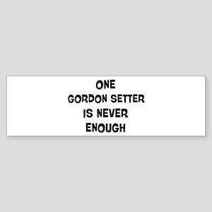 One Gordon Setter Bumper Sticker
