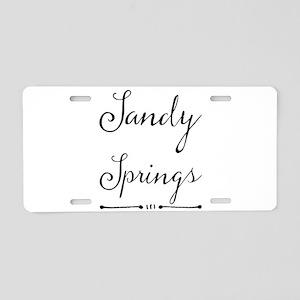 Sandy Springs Aluminum License Plate