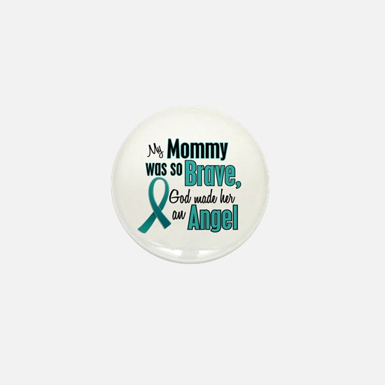 Angel 1 TEAL (Mommy) Mini Button