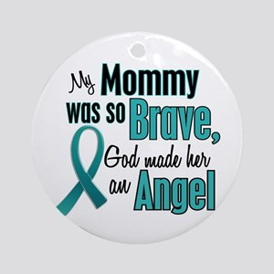 Angel 1 TEAL (Mommy) Ornament (Round)
