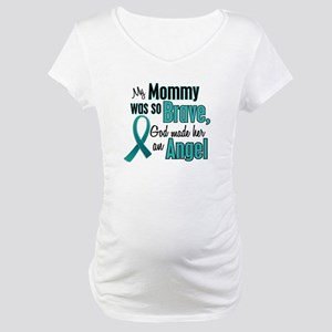 Angel 1 TEAL (Mommy) Maternity T-Shirt