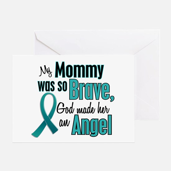 Angel 1 TEAL (Mommy) Greeting Card