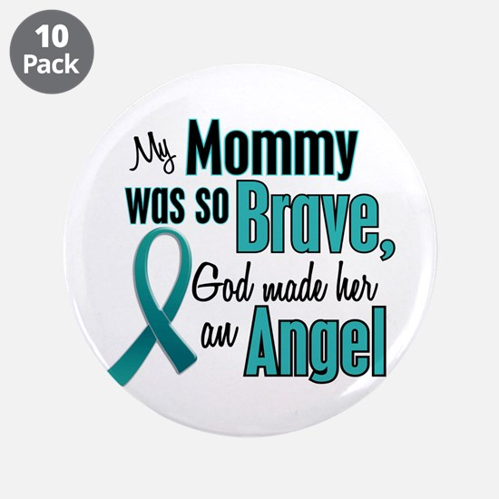"""Angel 1 TEAL (Mommy) 3.5"""" Button (10 pack)"""