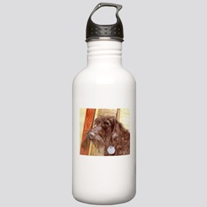Chocolate Labradoodle Water Bottle
