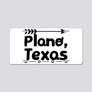 Plano, Texas Aluminum License Plate