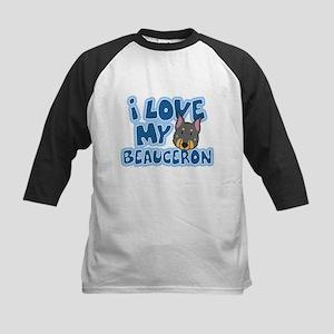 I Love my Beauceron Kids Baseball Jersey