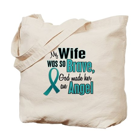 Angel 1 TEAL (Wife) Tote Bag