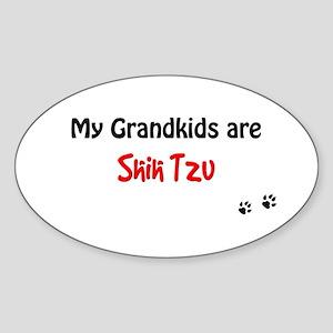Shih Tzu Grandkids Oval Sticker