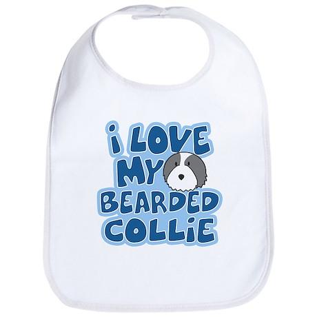 I Love my Bearded Collie Bib
