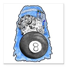 Buffalo 8 ball Square Car Magnet 3