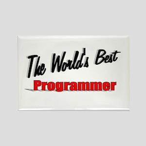 """""""The World's Best Programmer"""" Rectangle Magnet"""