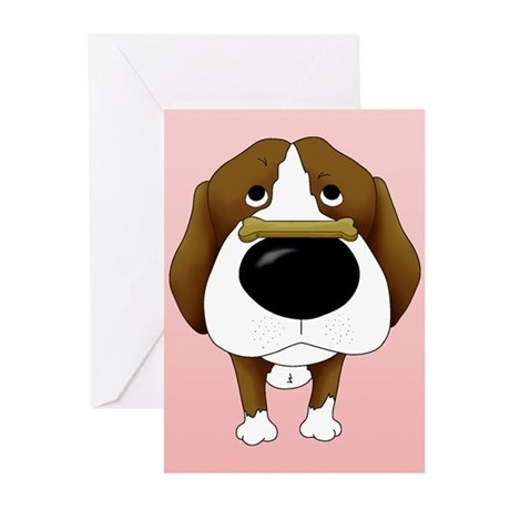 Beagle Valentine's Day Greeting Cards (Pk of 10)