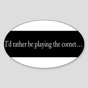 Cornet Gift Oval Sticker