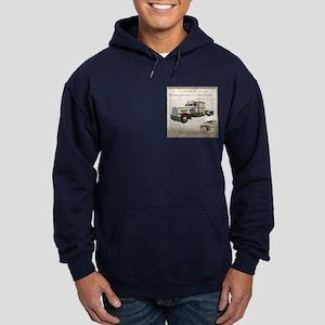 Democracy Starts Here Truckin Hoodie (navy)