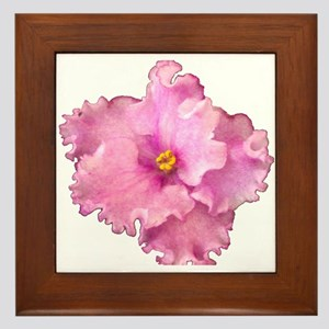 Picotee Petticoat (pink) Framed Tile