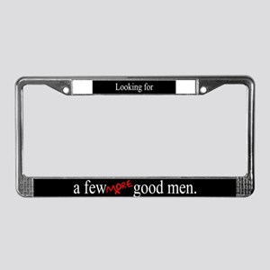 More Good Men License Plate Frame