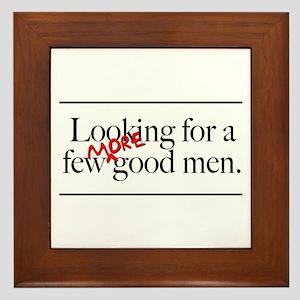 More Good Men Framed Tile