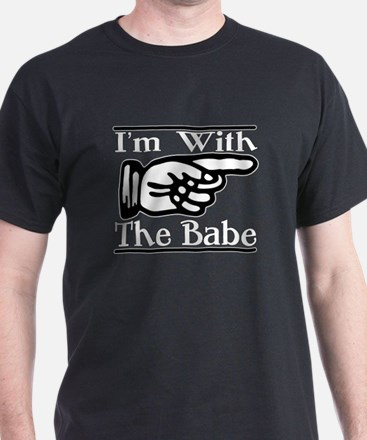 I'm With the Babe Left T-Shirt