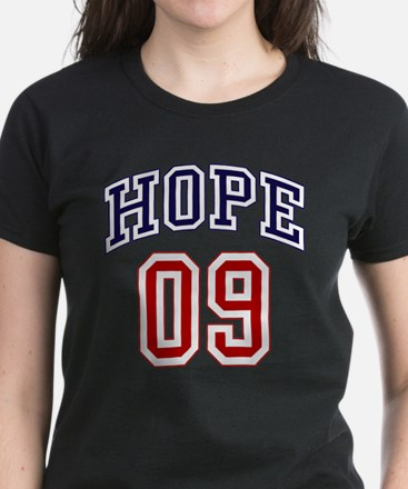 Barack Obama Hope 09 Women's Dark T-Shirt