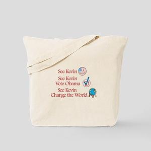 See Kevin Vote Obama Tote Bag